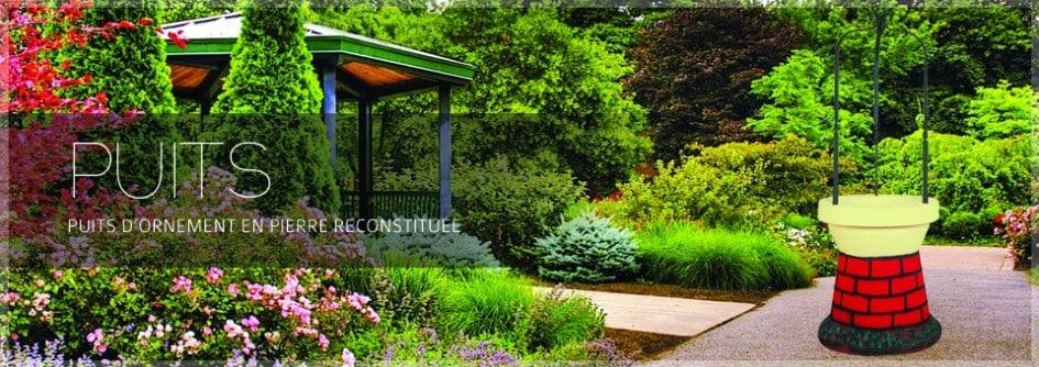 D coration de jardin puit en pierre aublet - Pierre deco jardin castorama ...