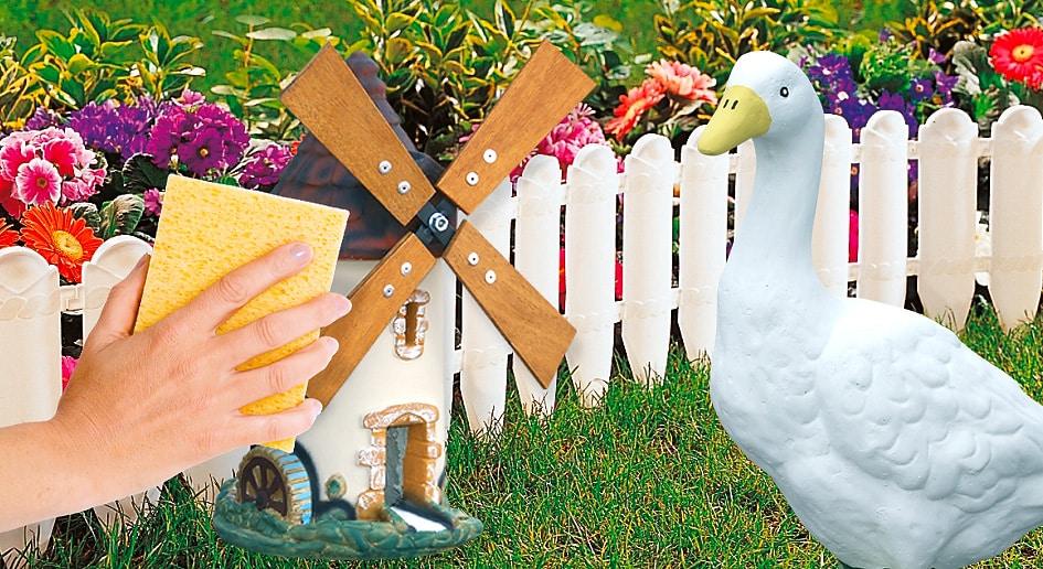 Entretien pierre reconstitu e aublet deco jardin for Sujets decoratifs pour jardin