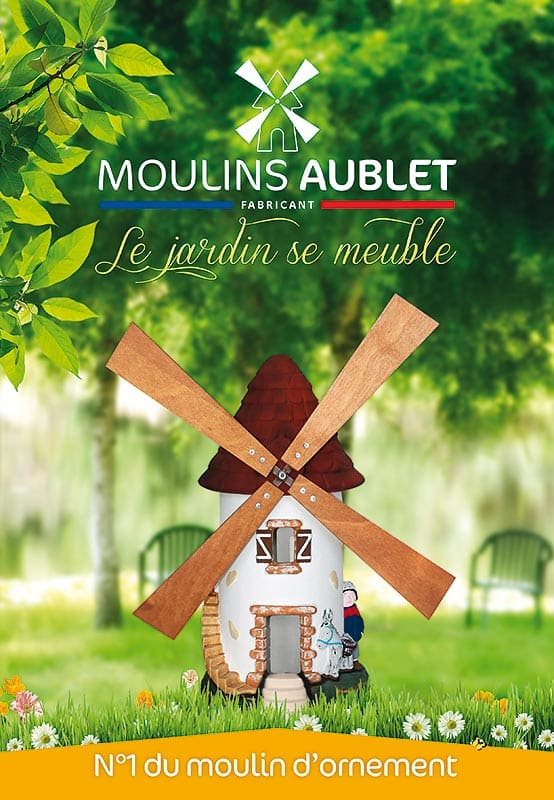 D coration jardin moulins aublet fabricant fran ais d co for Pierre de decoration jardin