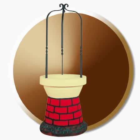 Puit deco jardin 0135cr moulin de jardin d co aublet for Puits de decoration exterieur